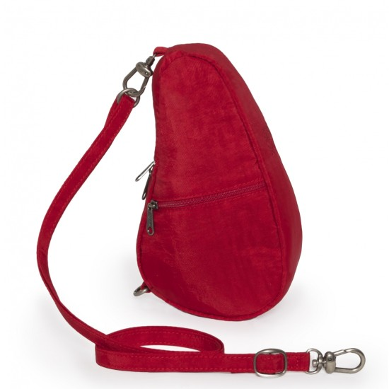 Healthy Back Bag Textured Nylon Baglett - Crimson