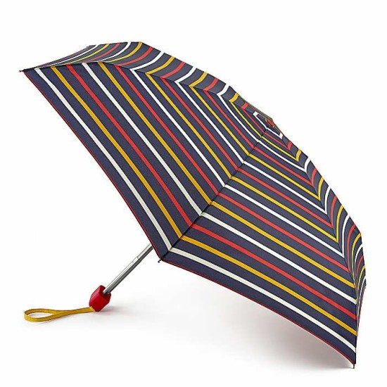 Joules by Fulton Tiny-2 Umbrella - Hope Stripe Navy
