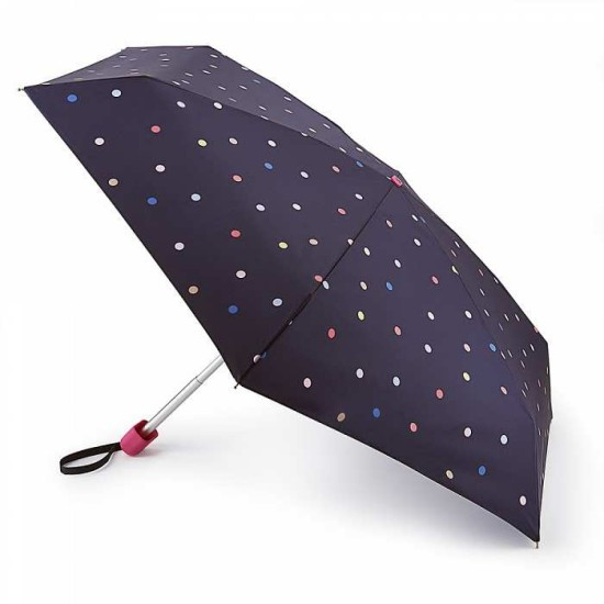 Joules by Fulton Tiny-2 Umbrella - Ping Pong Spot Navy