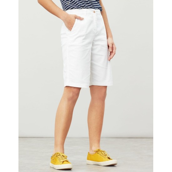 Joules Cruise Long Length Chino Shorts - Bright White