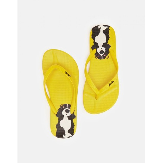 Joules Flip Flops - Yellow Dog