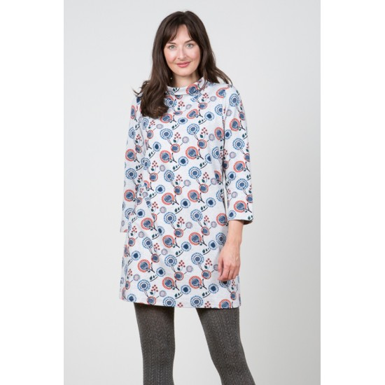Lily & Me Deerswood Tunic - Harvest Flower Light Grey