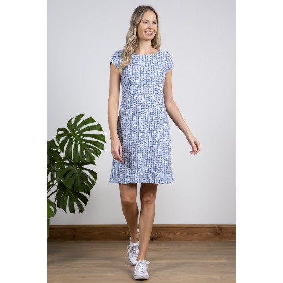 Lily & Me Harbourside Dress - Etched Circle Cornish Blue