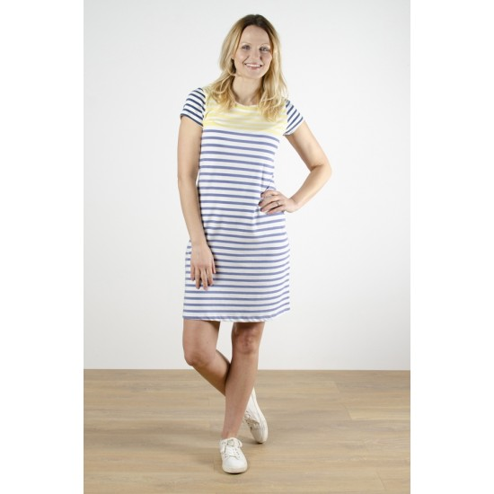 Lily & Me Stripe Dress - Engineered Stripe Cornflower