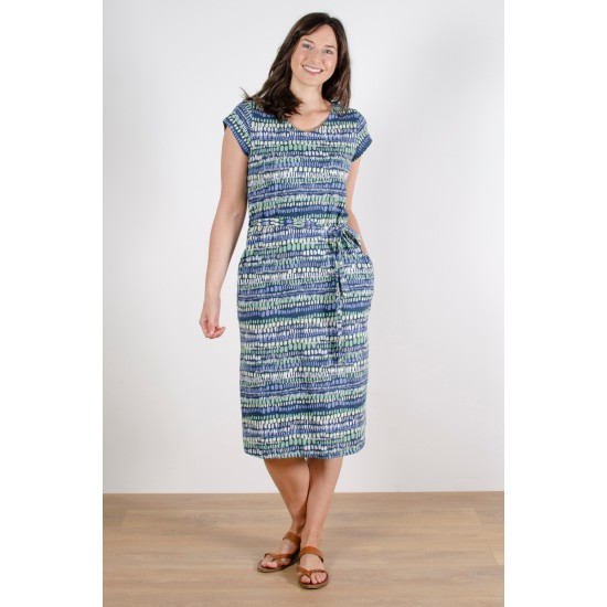Lily & Me Weekend Dress - Stone Waves Navy