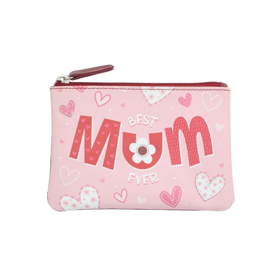 Mala Leather Pinky Best Mum Coin Purse
