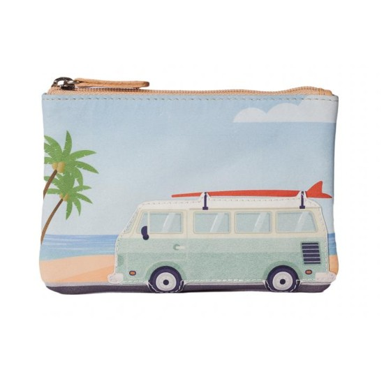 Mala Leather Pinky Camper Van Coin Purse