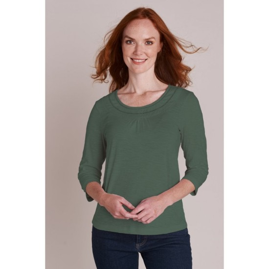 Mistral Basic 3/4 Sleeve T-shirt With Ladder Lace - Trooper Green