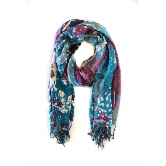 Mistral Big Pressed Flowers Scarf - Multi