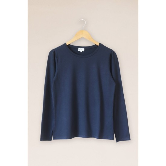Mistral Puff Sleeve Top - Eclipse Navy