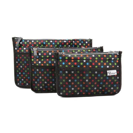 Periea Chelsy - Black with Multi Polka Dots