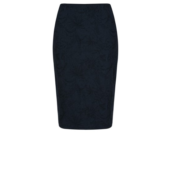 Robell Christy Jacquard Skirt - Navy
