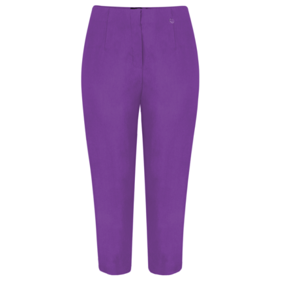 Robell Marie 07 Cropped Trouser - Purple