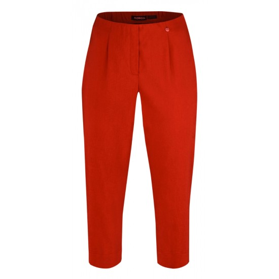 Robell Marie 07 Cropped Trouser - Red