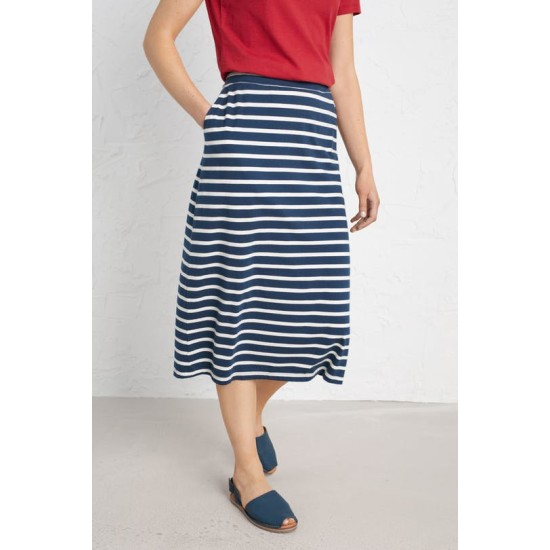 Seasalt Island Days Skirt - Breton Harbour Ecru