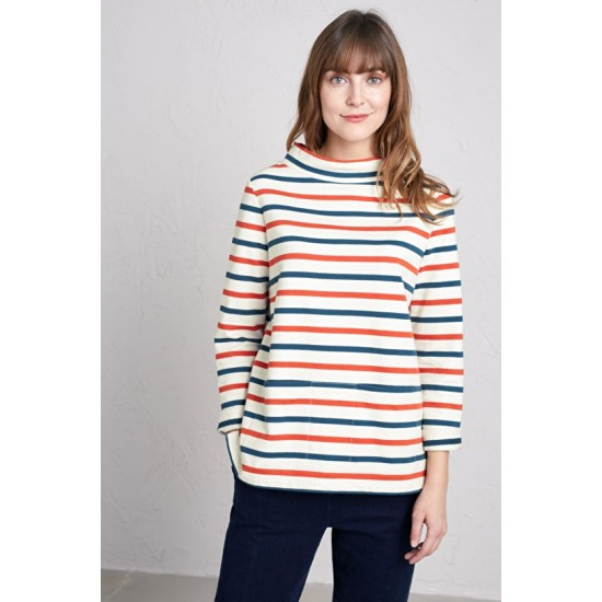 Seasalt Namparra Sweatshirt - Evening Tide Light Squid