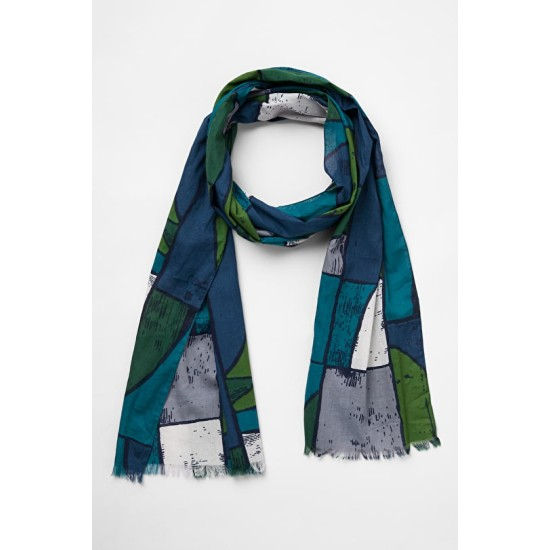 Seasalt New Everyday Scarf - Constructivist Boats Landscape
