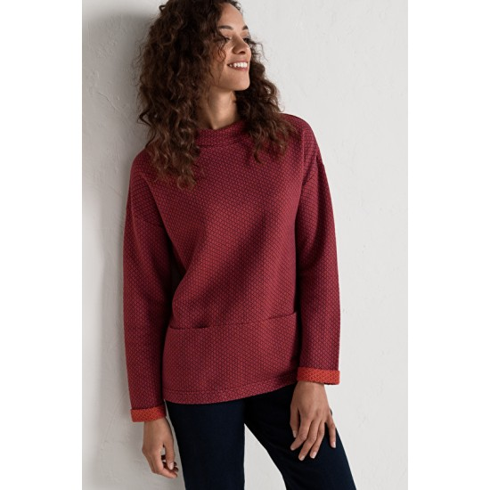 Seasalt Rock Beach Sweatshirt - Juxtapose Merlot Cinder