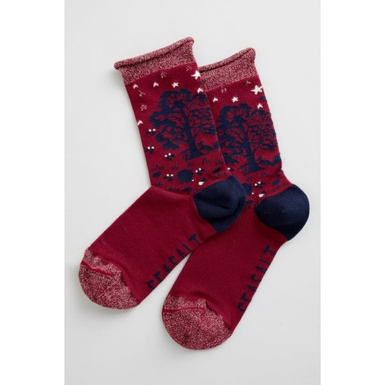 Seasalt Snowy Scenes Socks - Yule Feast Flag