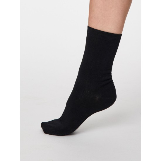 Thought SPW249 Solid Jackie Bamboo Socks - Black