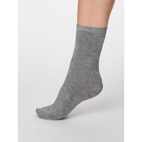 Thought SPW249 Solid Jackie Bamboo Socks - Mid Grey Marle