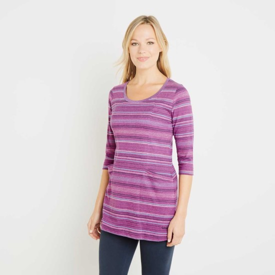 Weird Fish Arlo Stripe Tunic - Sloeberry