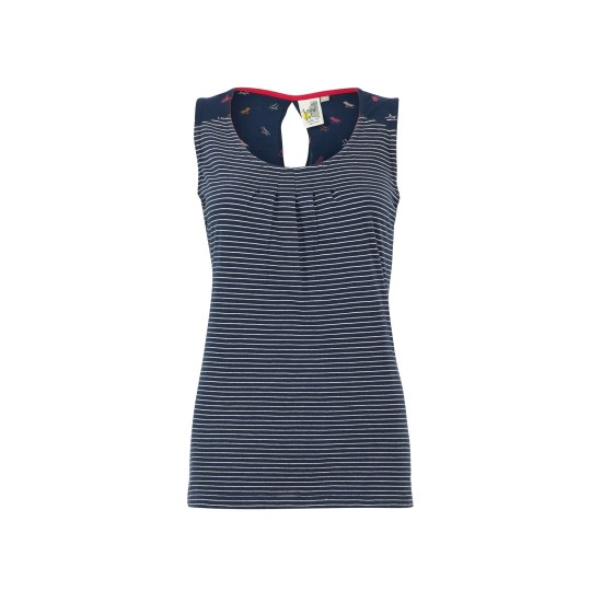 Weird Fish Nilly Jersey Vest - Navy