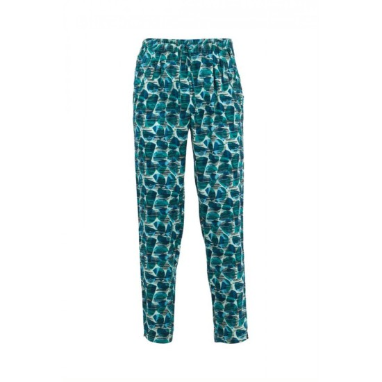 Weird Fish Tinto Printed Viscose Trousers - Bottle Green