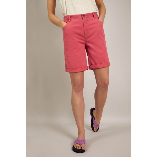Weird Fish Vittoria Organic Cotton Bermuda Shorts - Tea Rose
