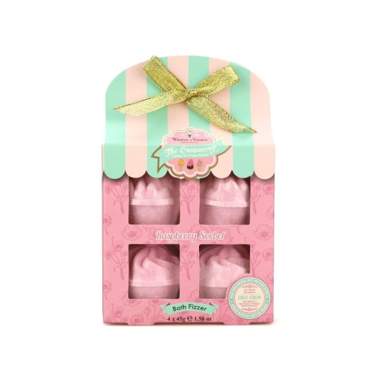 Winter in Venice 4 Pack Ice Cream Bath Fizzers - Raspberry Sorbet