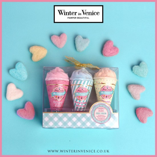 Winter in Venice Ice Cream Bath Fizzers Trio